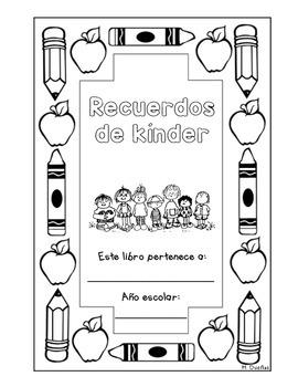 Spanish Kinder Memory Book