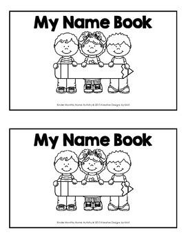 Kinder Monthly Name Booklet