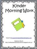 Kinder Morning Work 2