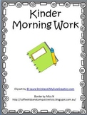 Kinder Morning Work 2