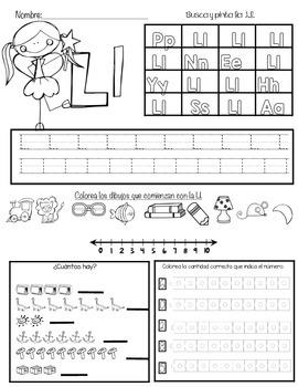 Kinder Morning Work In Spanish - MPSTL