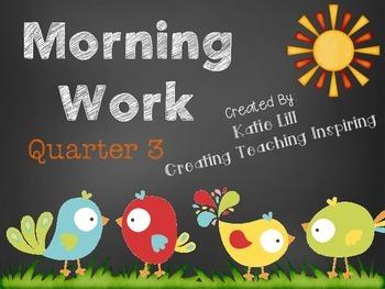 Kinder: Morning Work [Quarter 3]