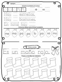 Kinder Morning Work in Spanish BUNDLE Trabajo por la mañana