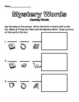 Kinder Mystery Words