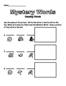 Kinder Mystery Words