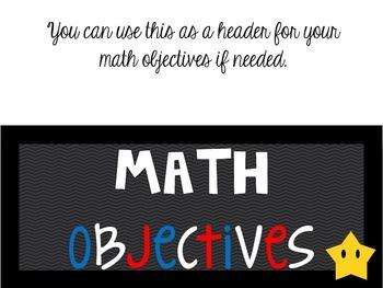 Kinder *New* Math TEKS Posters {white background w/colorful frames}