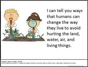 Kinder Next Generation Science Standards (NGSS) & I Can Statements