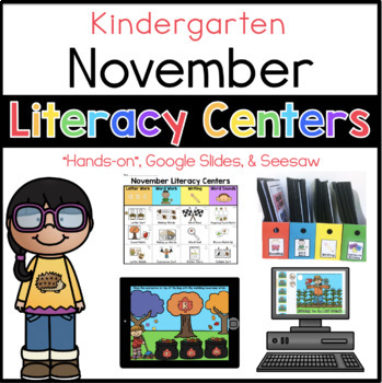 Kinder November Literacy Centers
