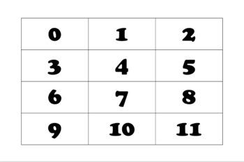 Kinder Number Matching Mats (0 - 20)