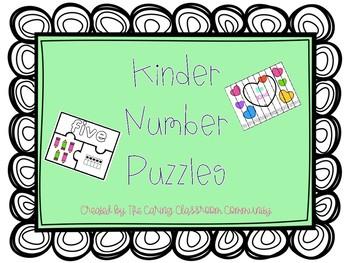 Kinder Number Puzzles Growing Bundle