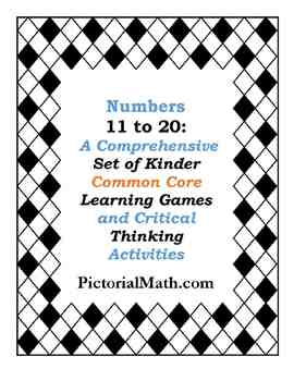 Kinder-1st: Numbers 11 to 20,Centers, Games and Activities
