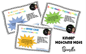 Kinder Numbers and Letters Matching Mats BUNDLE