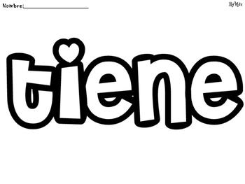 Kinder - Palabras de alta frecuencia-2/  Spanish High frecuency words-2