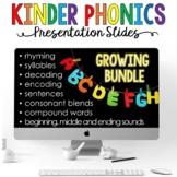 Kinder Phonics Teaching Slides for the Virtual Classroom #