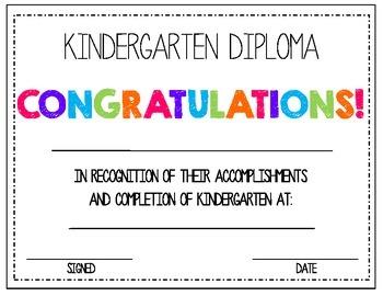 Kinder Prep Diploma