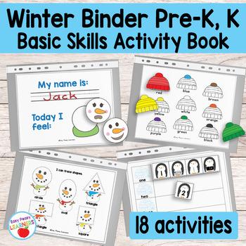 Kinder & Preschool Winter Binder Activity Book