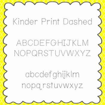 Kinder Print Dashed Font {personal and commercial use; no license needed}