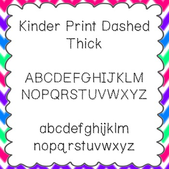 Kinder Print Dashed Thick Font {personal and commercial use; no license needed}