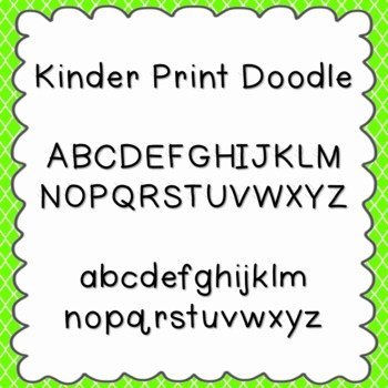Kinder Print Doodle Font {personal and commercial use; no license needed}