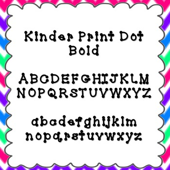Kinder Print Dot Bold Font {personal and commercial use; no license needed}
