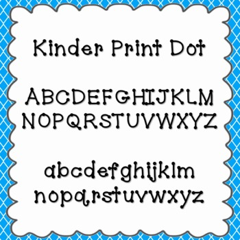 Kinder Print Dot Font {personal and commercial use; no license needed}