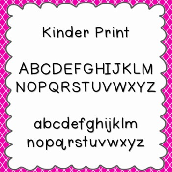 Kinder Print Font {personal and commercial use; no license needed}