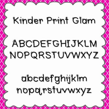 Kinder Print Glam Font {personal and commercial use; no license needed}