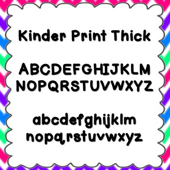 Kinder Print Thick Font {personal and commercial use; no l