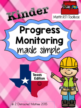 Kinder Progress Monitoring Pack:  TX Edition