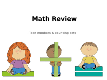 Kinder Review - Teen Numbers & Counting Sets