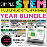 STEM Challenge BUNDLE | Digital & Printable with Earth Day
