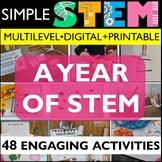 STEM Challenge BUNDLE   Digital & Printable with Summer