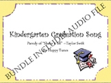 """Kinder """"Shake it Off' graduation parody song BUNDLE. Mp3 guide and instrumental."""
