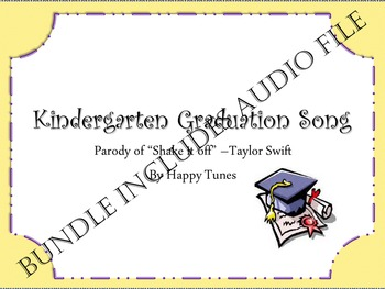 "Kinder ""Shake it Off' graduation parody song BUNDLE. Mp3 guide and instrumental."