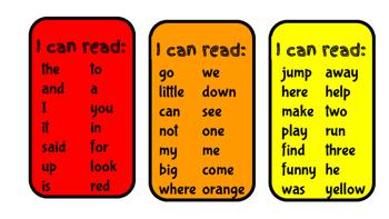 Kinder Sight Word Brag Tags
