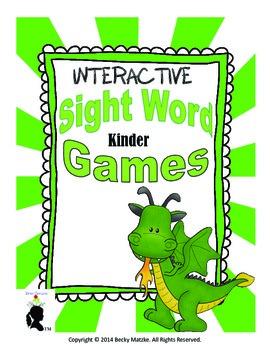 Kinder Sight Word Games