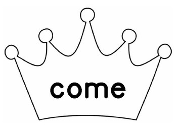 Kinder Sight Words Crown