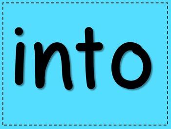 Kinder Sight Words - Digital Flash Cards [Confetti Colors]