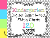 Kinder Sight Words - Digital Flash Cards [Confetti Colors]