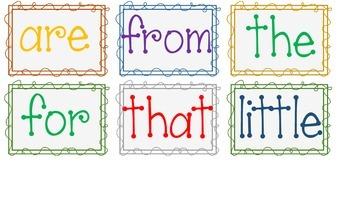 Kinder Sight Words Flashcards & Activity