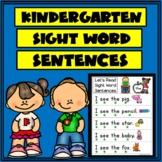 Kinder Sight Words Sentences