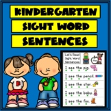 Kinder Sight Words Sentences