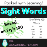 Kinder Sight Words for Beginners