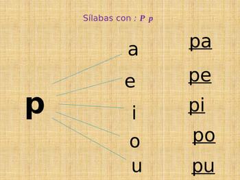 Kinder Silabas con P-S