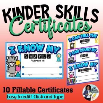 Kinder Skills Certificates