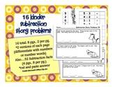 Kinder Subtraction Story Problems