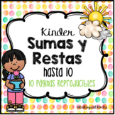Kinder Sumas y Restas hasta 10 (Spring Themed)