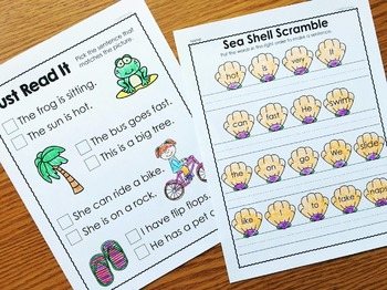 Summer Packet for Kindergarten - Summer Review Packet Kindergarten