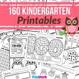 Kindergarten Math & Literacy Owl Worksheets - CCSS Aligned