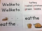 Kinder Thanksgiving Pocket Chart Cards (Use alone or with